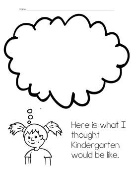 Kindergarten Thought Bubbles Worksheet