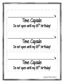 Kindergarten Time Capsule