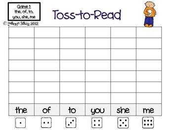 Kindergarten Toss To Read