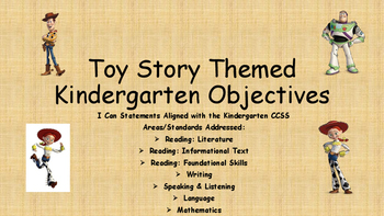 Kindergarten Toy Themed I Can Statements