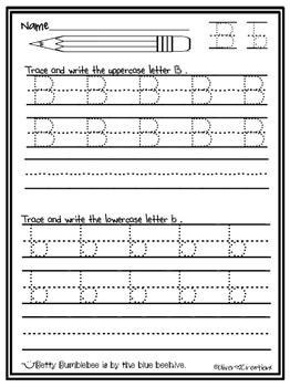 Kindergarten Trace & Write the Alphabet