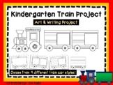 Kindergarten Train Art Project, Kinder Cut and Color - Cooperative Art