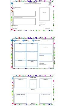 Kindergarten Transition Statement Package