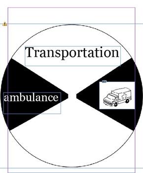 Kindergarten Transportation Reading Wheels