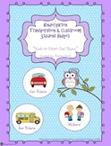 Kindergarten Transportation and Classroom Student Badges