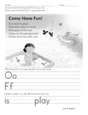 Kindergarten Treasures Homework Unit 5 Wk 3