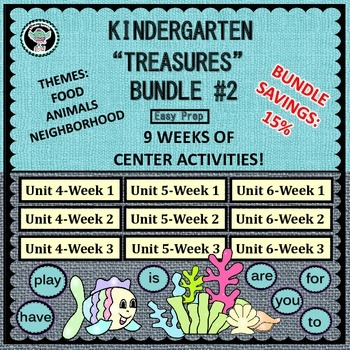 "Kindergarten  ""Treasures""  Reading Bundle #2     Unit 4   Unit 5   Unit  6"