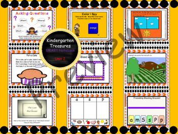 Kindergarten Treasures Reading SMART Notebook Bundle (Smart Start - Unit 3)