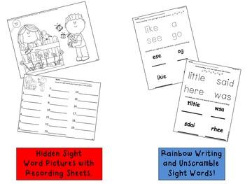 Treasures Kindergarten Sight Word Activities Mega-Pack