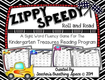 Treasures Kindergarten -- Zippy Speedy Roll And Read -- Si