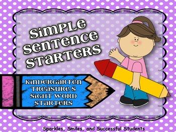 Kindergarten Treasures Sight Word Writing Pack