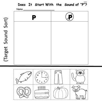 Kindergarten Treasures   Unit 2  Week 2   Sight Word a    Phonics p
