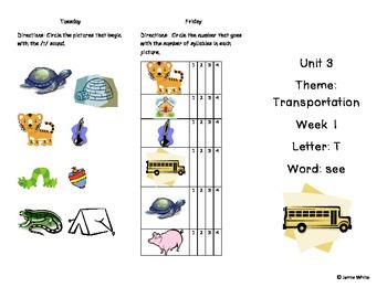 Kindergarten Treasures Unit 3