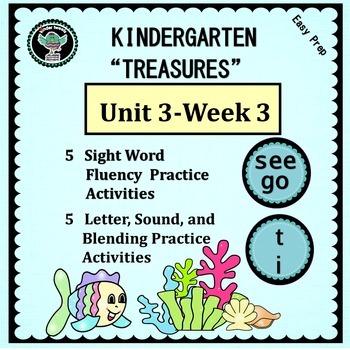 Kindergarten Treasures   Unit 3 Week 3   Sight Words see  go   Phonics t  i