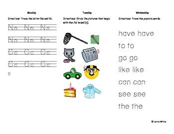 Kindergarten Treasures Unit 4
