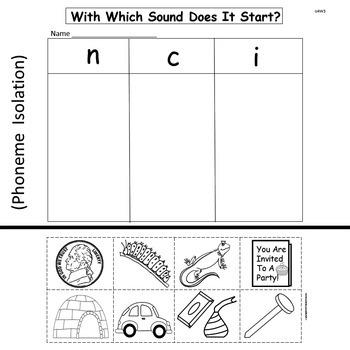"Kindergarten ""Treasures""  Unit 4 Week 3   Sight Words to have   Phonics c n"