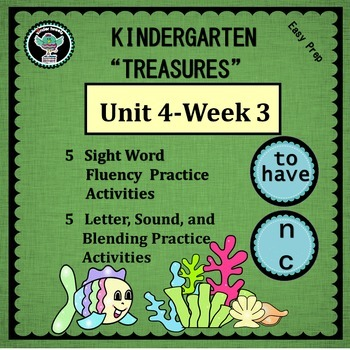 """Kindergarten """"Treasures""""  Unit 4 Week 3   Sight Words to h"""