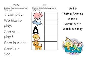 Kindergarten Treasures Unit 5