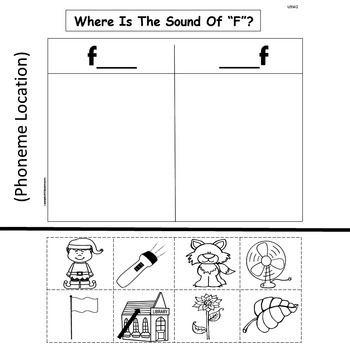 Kindergarten Treasures  Unit 5 Week 2  Sight Word play  Phonics f