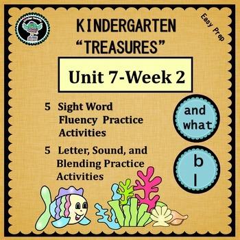 Kindergarten Treasures  Unit 7 Week 2   Sight Words and wh