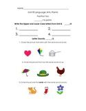Kindergarten Treasures Unit 8 Pre/Post Assessment