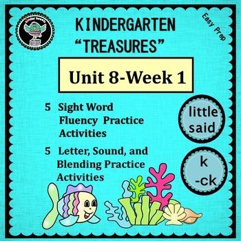 Kindergarten Treasures  Unit 8 Week 1  Sight Words  little