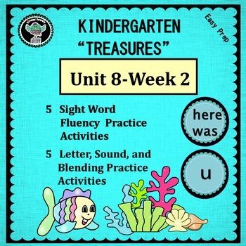 Kindergarten Treasures  Unit 8 Week 2  Sight Words  here w