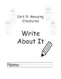 Kindergarten Treasures Unit 9 Write About it Journals