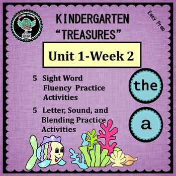 "Kindergarten ""Treasures""  Unit 1-Week 2:  Sight Word-the"