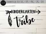 Kindergarten Tribe Cutting File and Clip-Art - SVG, EPS, P