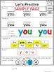 Kindergarten Trick Words Practice Pack