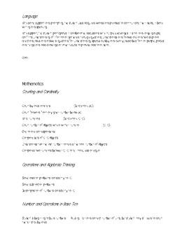 Kindergarten Trimester 2 Goals Sheet