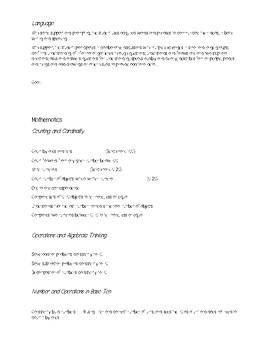 Kindergarten Trimester 3 Goals Sheet