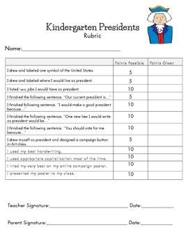 Kindergarten U.S. President Project