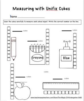 Kindergarten Unifix Cube Measuring