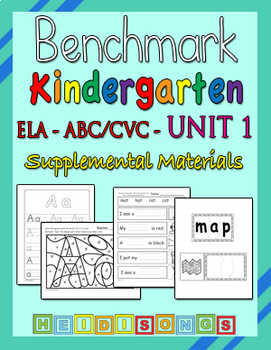 Benchmark Advance Kindergarten Unit 1 - Supplemental Materials