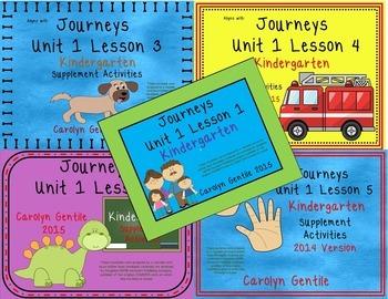 Kindergarten Unit 1 Bundle 2014/2017 Version