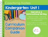 Kindergarten Unit 1 Launching Writing Workshop Curriculum Guide & Anchor Charts
