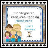Kindergarten Unit 1 Treasures Reading Homework