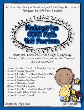 Kindergarten Unit 14 CORE Math