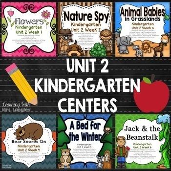 Kindergarten Unit 2 Bundle