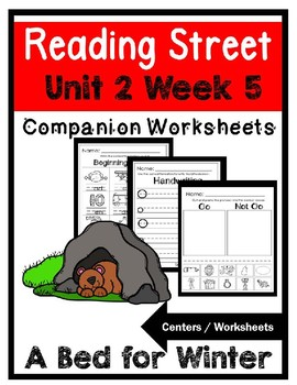 Kindergarten.Unit 2 Week 5.A Bed For The Winder.Reading Street.Centers