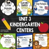 Kindergarten Reading Street Centers Unit 3 Bundle