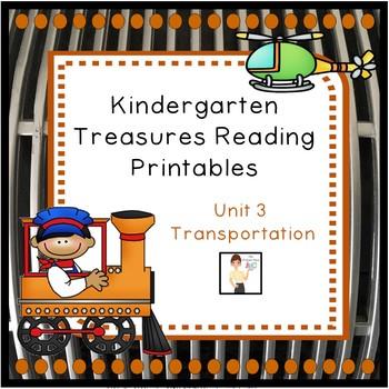 Kindergarten Unit 3 Treasures Reading Printables