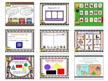 Kindergarten Unit 3 Treasures Reading Program SMART Notebook Files