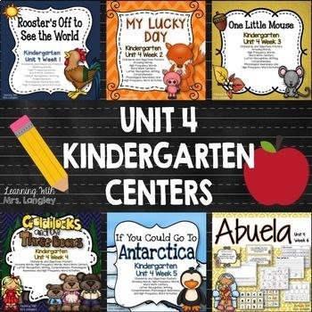 Kindergarten Unit 4 Bundle