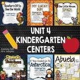 Kindergarten Centers Unit 4 Bundle