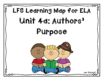 Kindergarten Unit 4a: Authors' Purpose Learning Map