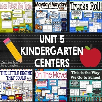 Kindergarten Reading Street Centers Unit 5 Bundle