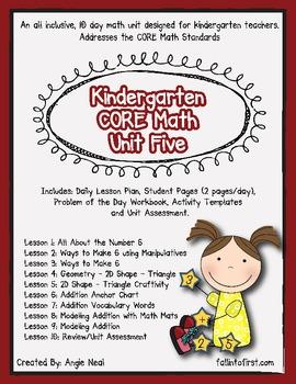 Kindergarten Unit 5 CORE Math